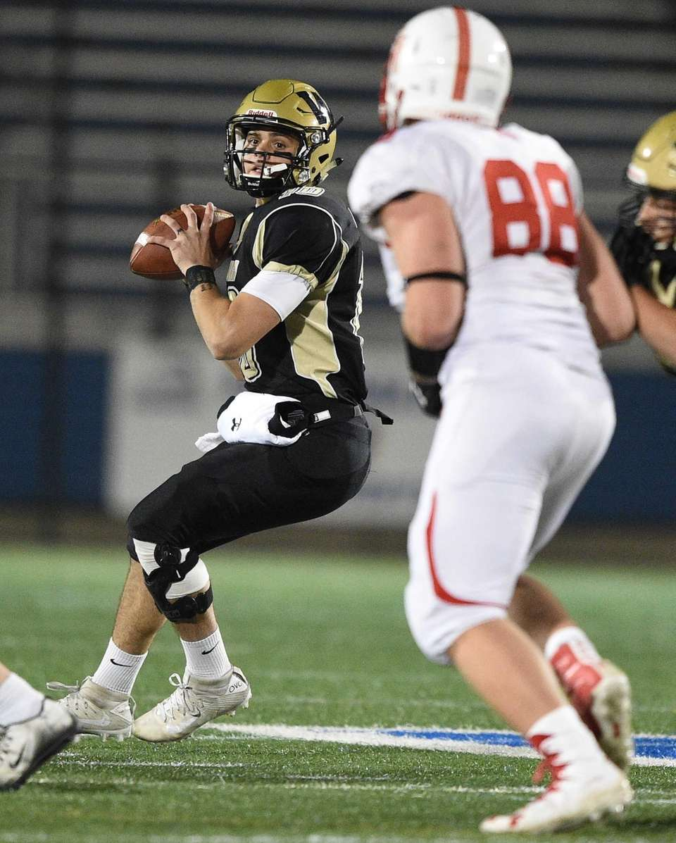 Wantagh's Tommy Rohan looks to pass against East