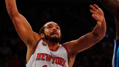 Joakim Noah of the New York Knicks goes