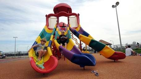 Children at the playground at Jones Beach on