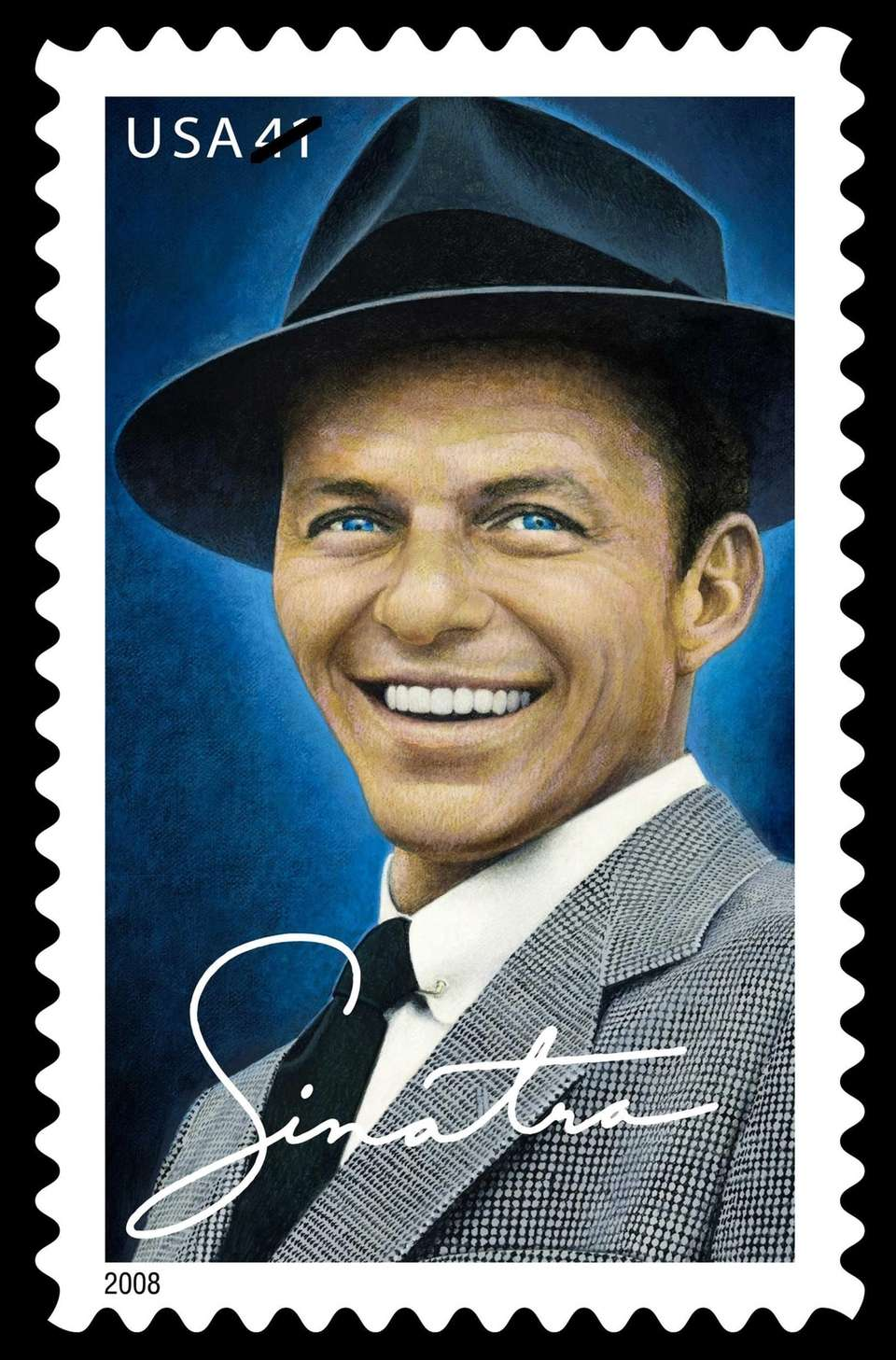The Frank Sinatra commemorative postal stamp was released