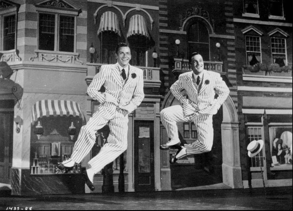 Frank Sinatra, left, and Gene Kelly combined their