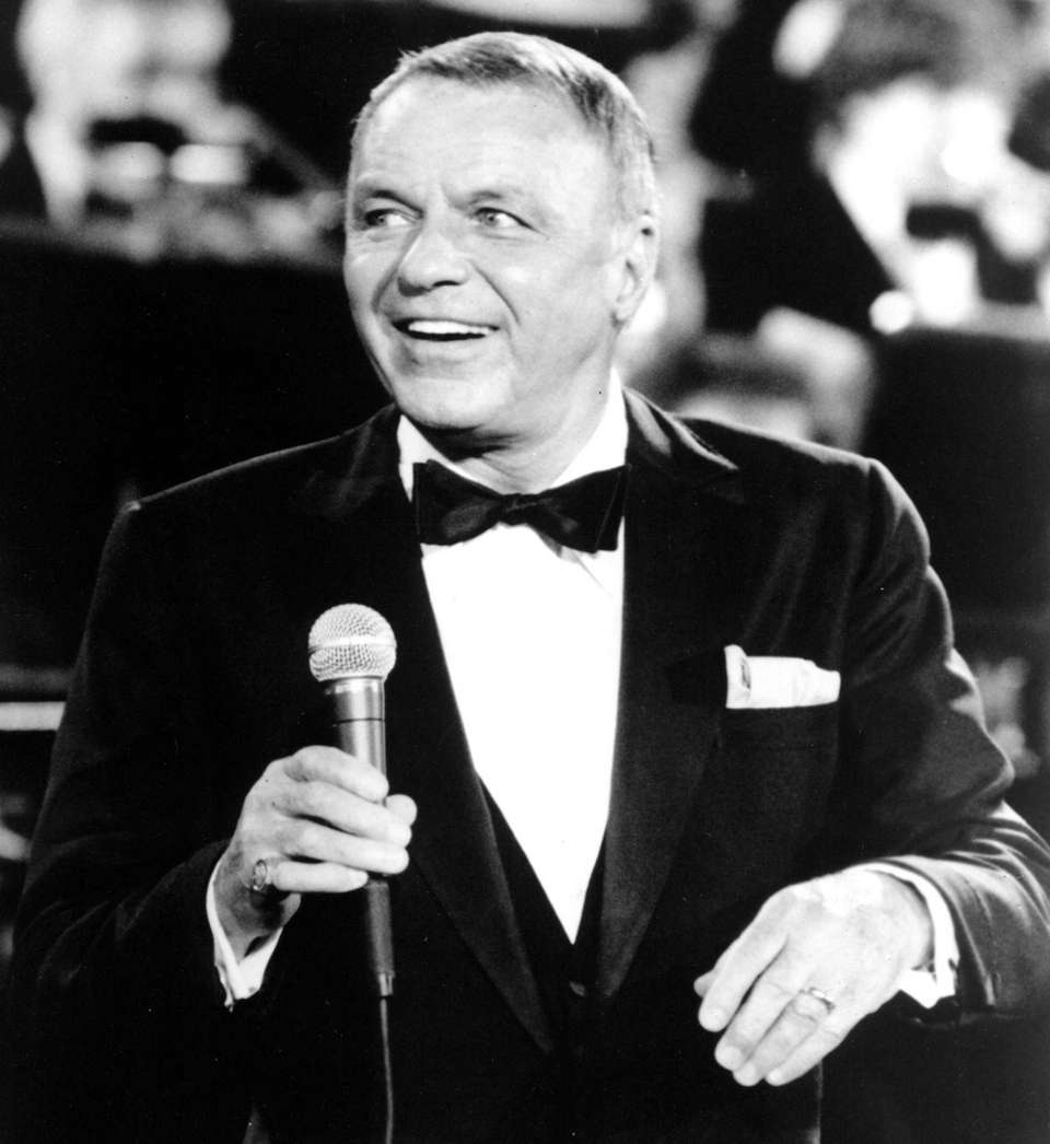 Frank Sinatra performs in 1982 in his legendary
