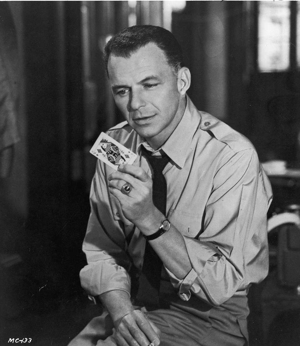 Frank Sinatra in a scene from the 1962
