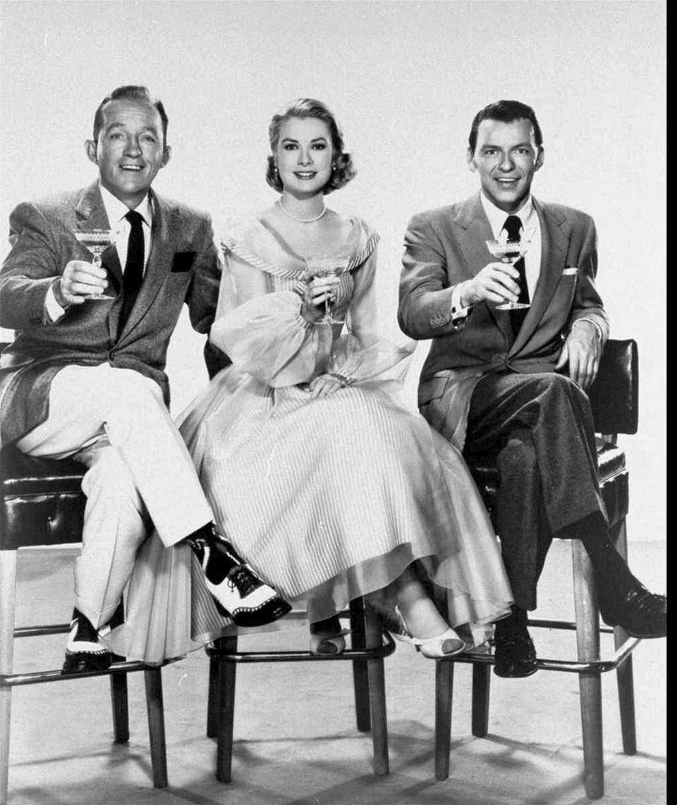Bing Crosby, Grace Kelly and Frank Sinatra in