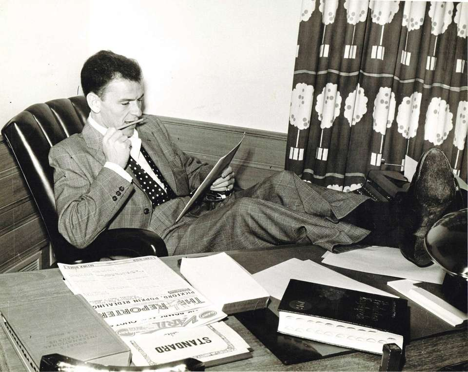 Legendary entertainer Frank Sinatra in 1945.
