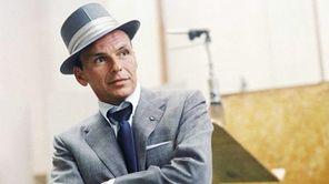 Frank Sinatra at a Capitol Records recording session