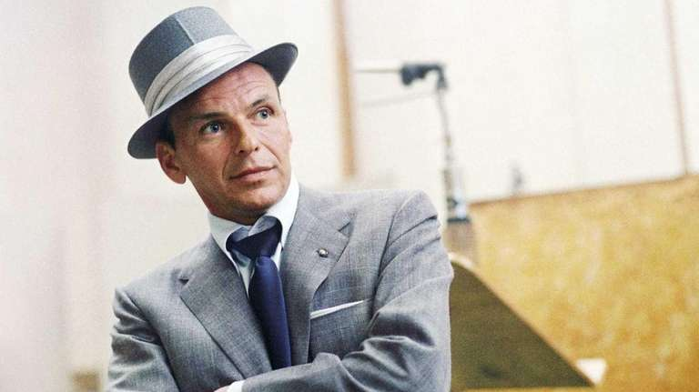 Frank Sinatra at a Capitol Records recording session
