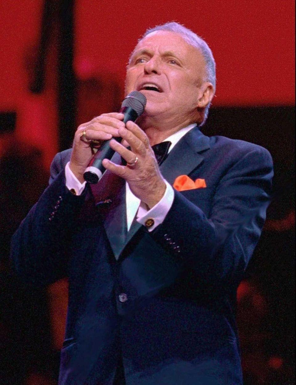 Frank Sinatra performs at Radio City Music Hall