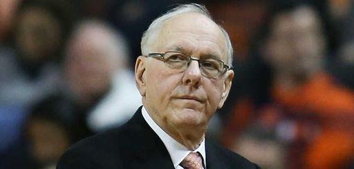 Syracuse head coach Jim Boeheim reacts against the