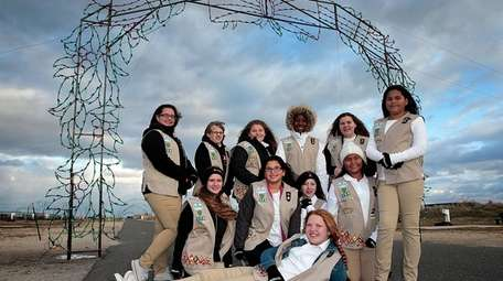 Girl scouts from troop 159, scout unit 48