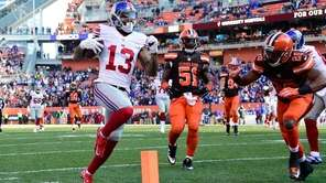 Odell Beckham of the New York Giants scores