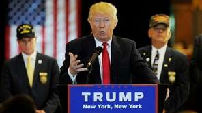 Donald Trump holds a news conference about millions