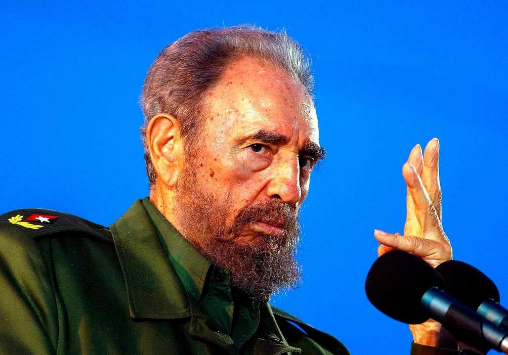 Cuba strongman Fidel Castro, who led a rebel
