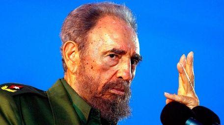 Cuba strongman Fidel Castro, who led a rebel