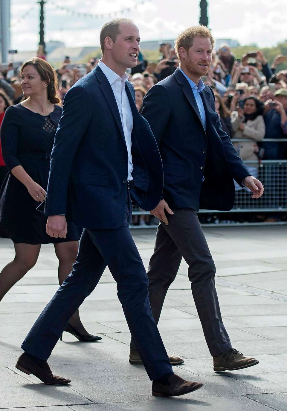 Prince William, the Duke of Cambridge, left, and