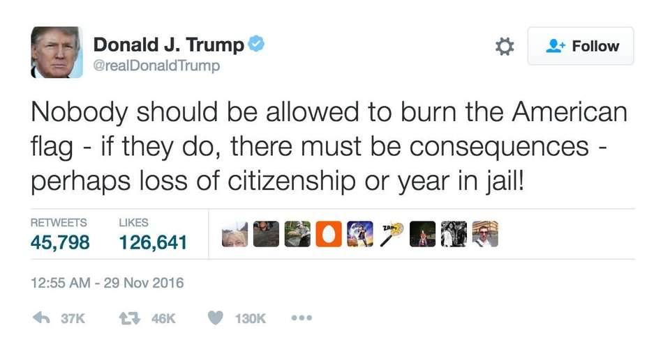 This tweet, issued early on Nov. 29, 2016,