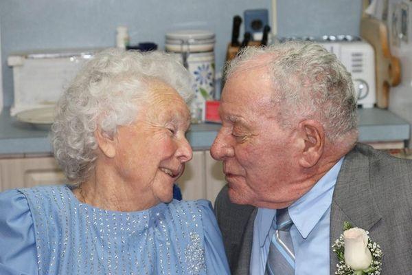 Philomena and Ernest Vigliotta's 65th wedding anniversary in