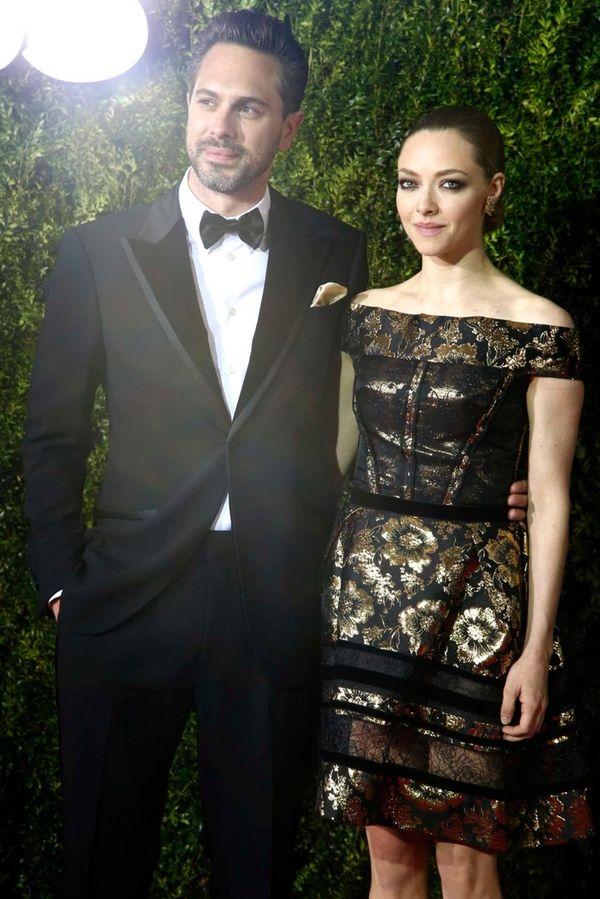 Actors Thomas Sadoski and Amanda Seyfried arrive for