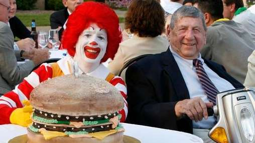 Ronald McDonald and Big Mac creator Jim Delligatti