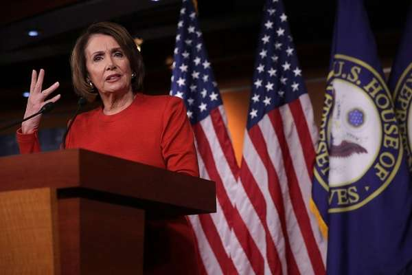 California Rep. Nancy Pelosi was re-elected to an