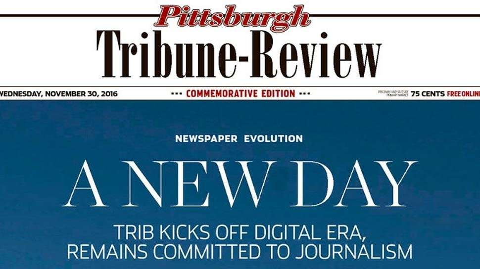 article pittsburgh tribune review prints final newspaper