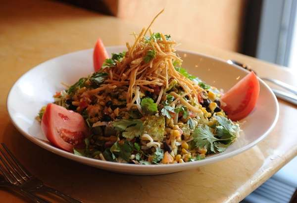 A Santa Fe salad, a Chinese chicken salad