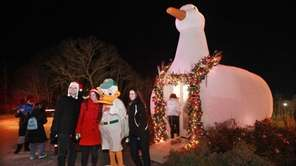 The annual Big Duck holiday lighting celebration has