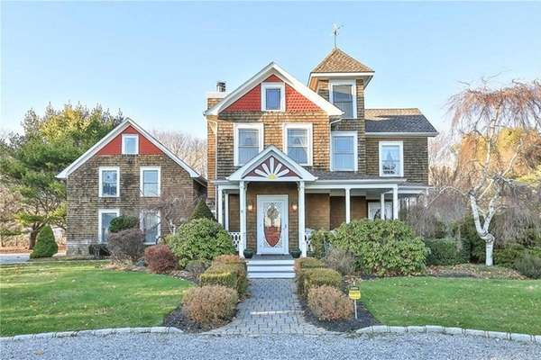 This home in East Moriches was built in