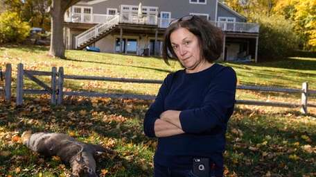 Cindy Gavel of Asharoken stands near a hunted