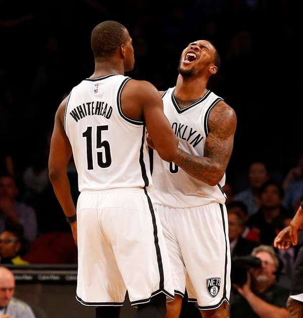 Sean Kilpatrick of the Brooklyn Nets reacts in