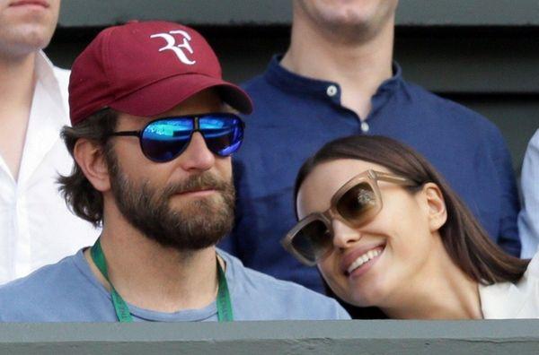 Actor Bradley Cooper and model Irina Shayk, above