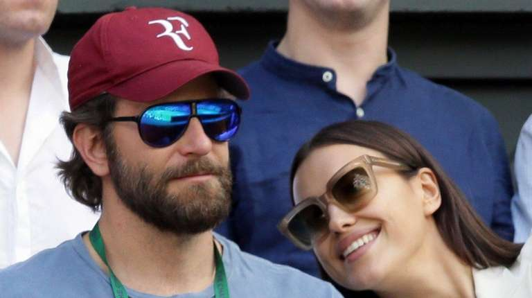 Actor Bradley Cooper and model Irina Shayk, above