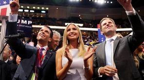 Donald Jr., Ivanka and Eric Trump, seen on