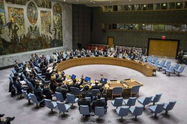 The Security Council votes at U.N. headquarters on
