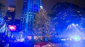 The Rockefeller Center Christmas tree is lit on