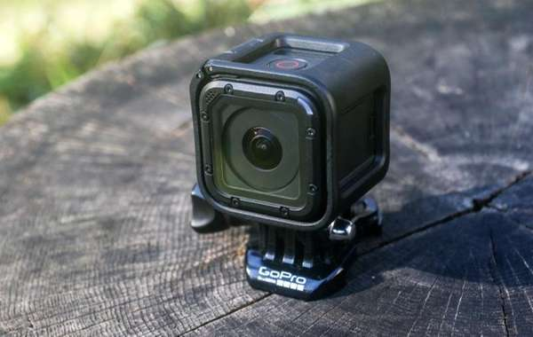 The GoPro HERO4 Session action camera is shown