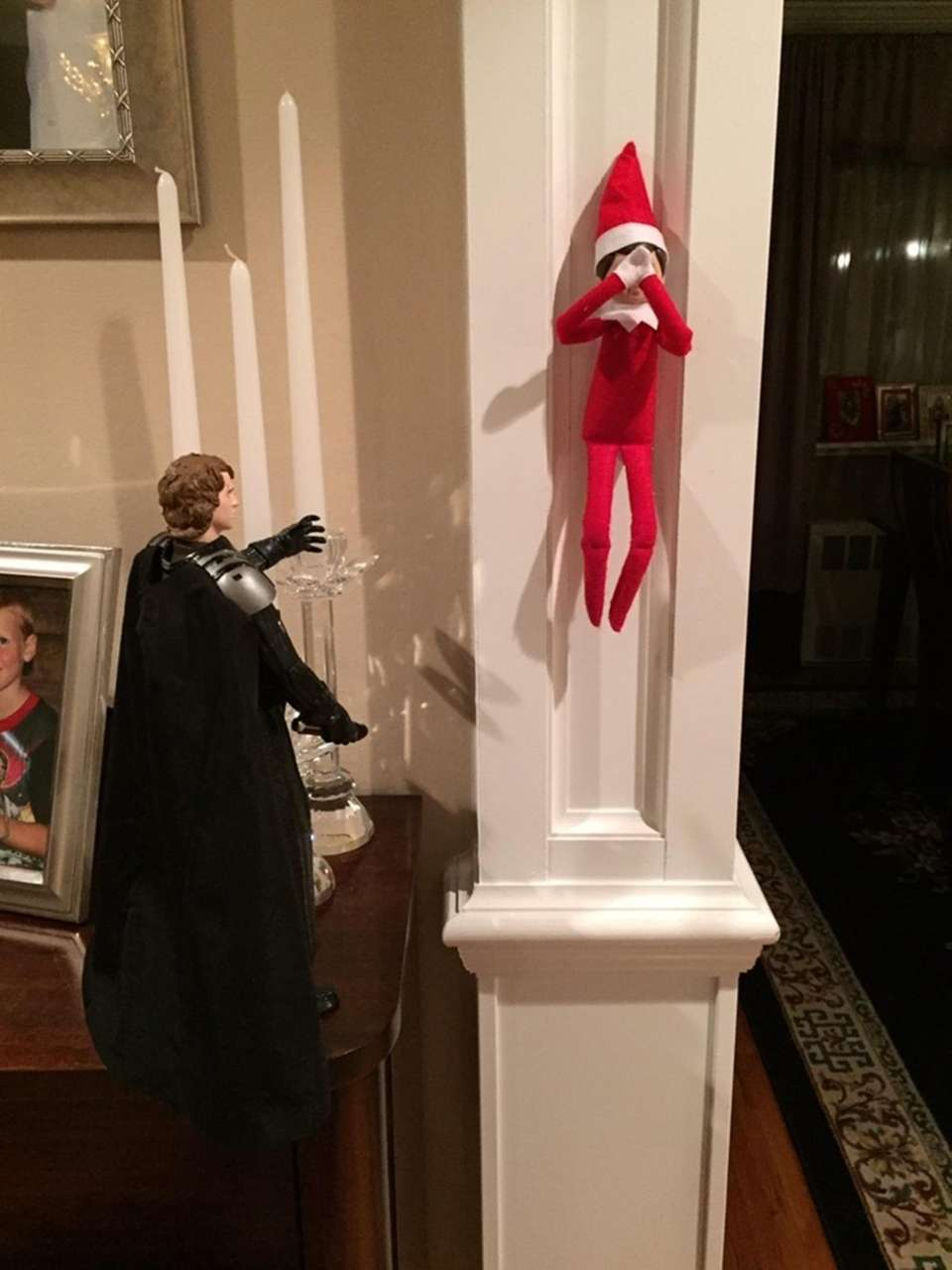 Elf gets in trouble with the dark side