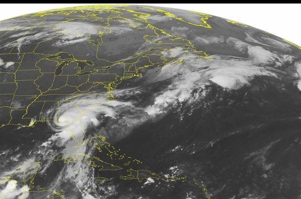 A NOAA satellite image, taken Friday, Sept. 2,