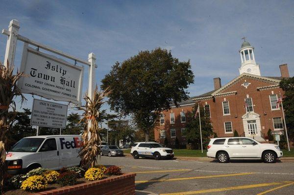 Islip Town Hall on Main Street in Islip