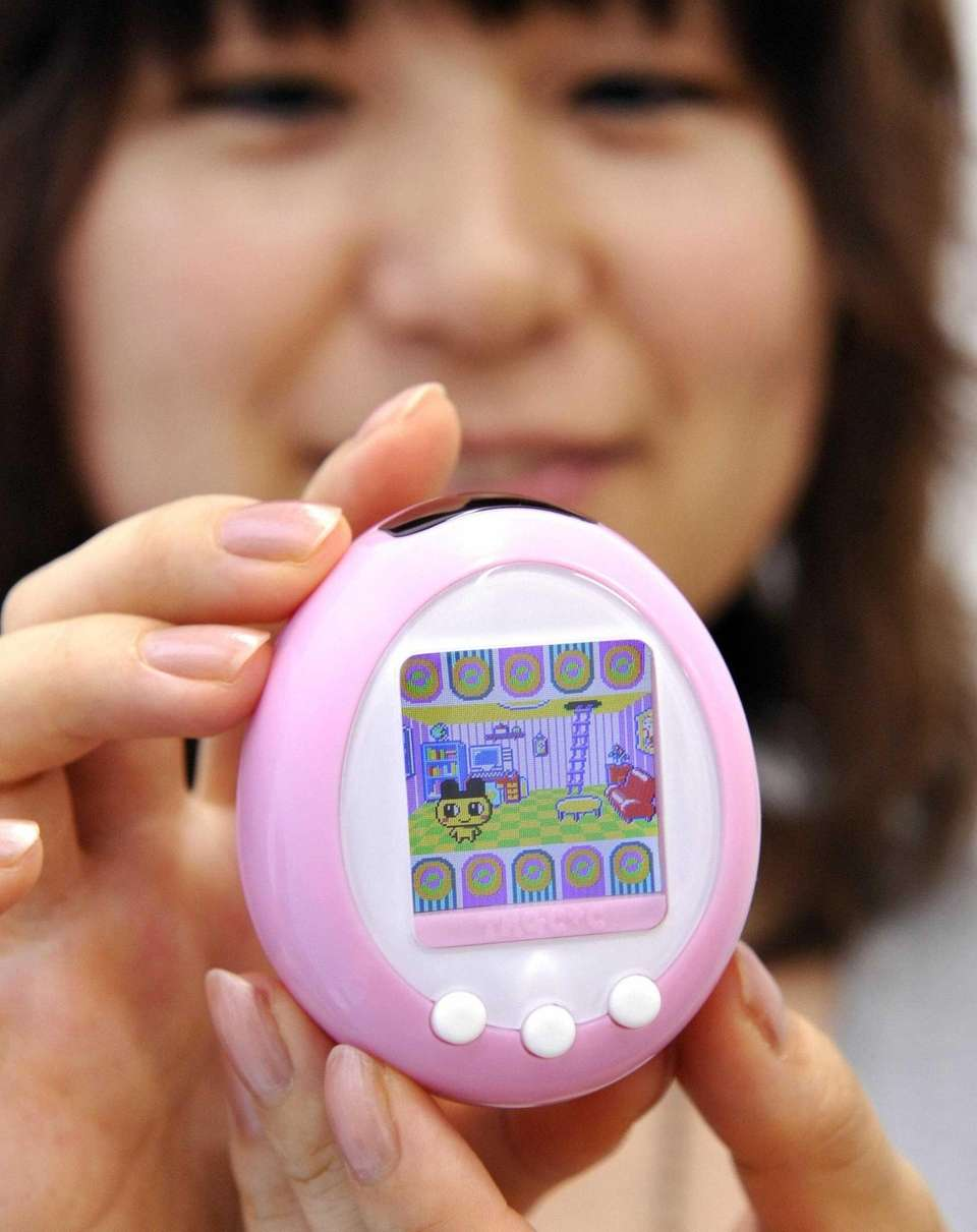 This handheld digital pet, created in Japan by