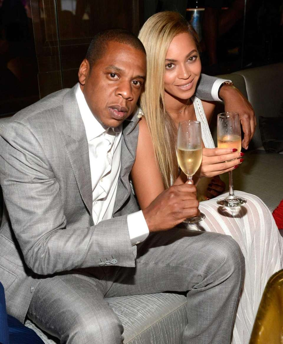 Jay Z and Beyonce attend The 40/40 Club