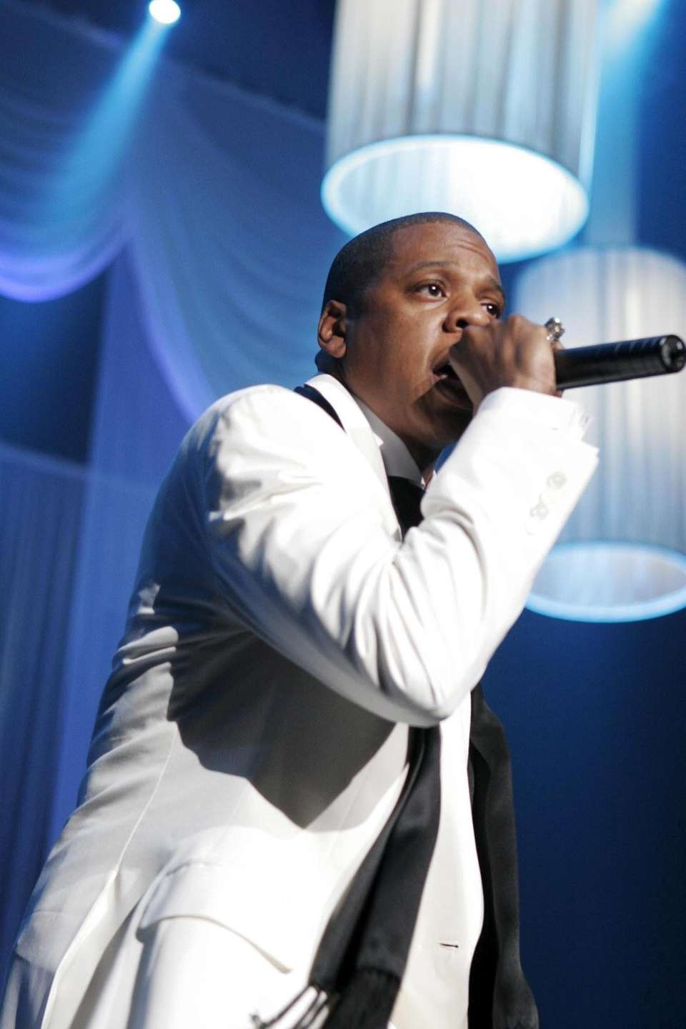 Rapper Jay Z performs at New York's Radio