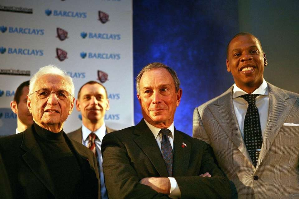 NYC Mayor Bloomberg and Nets part-owner and rapper