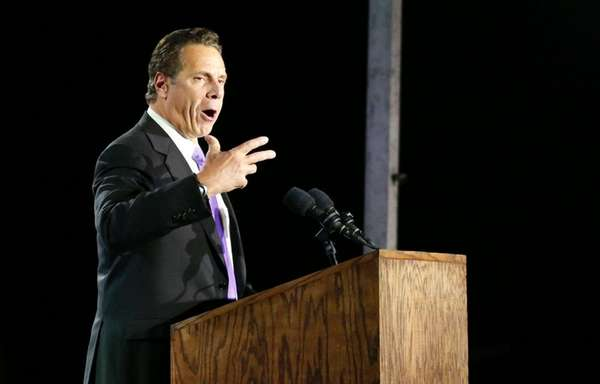 Gov. Andrew M. Cuomo speaks during election night