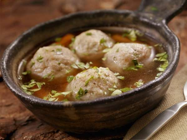 Matzoh ball soup is one of the traditional