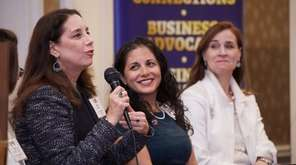 From left, Christine Malafi, partner at Campolo, Middleton