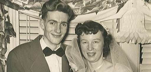 The wedding photo of Leona and Harold Zimmermann