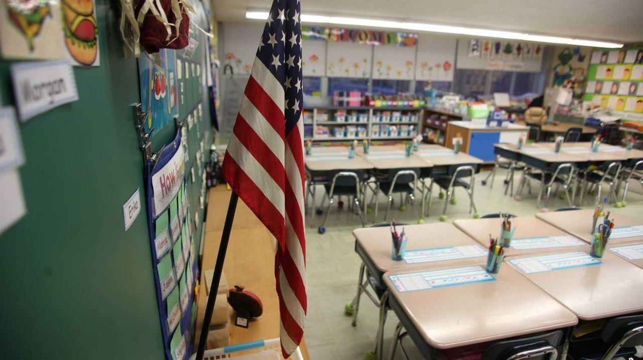 A first-grade classroom.
