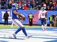 Sterling Shepard celebrates a third-quarter touchdown against the