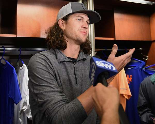Mets pitcher Jacob deGrom came by the